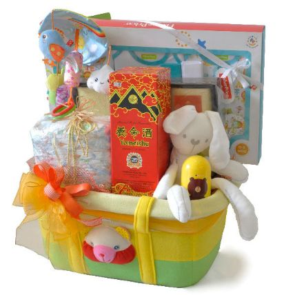 Baby Clothes And Grooming Set New Born Tote Bag Hamper: Gifts for Kids