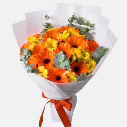Delightful Assorted Flowers Bouquet: Get Well Soon Gifts