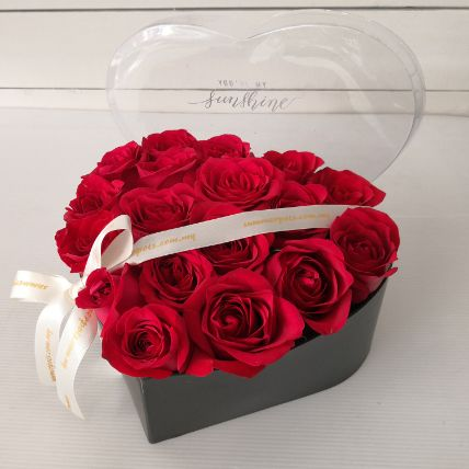 Valentine Heart Roses Arrangement: Last Minute Gift Delivery