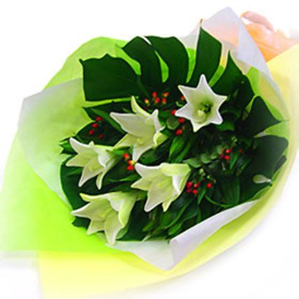 White Madonna Lilies: Get Well Soon Gifts