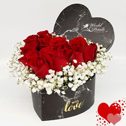 Red And White Floral Arrangement: International Women's Day Gifts