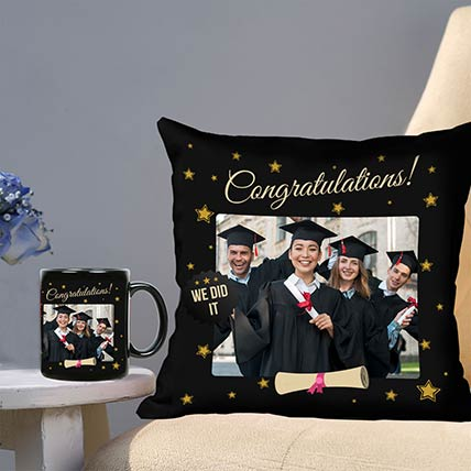 Congratulations Personalised Cushion Mug Combo: Gift Ideas For Friends