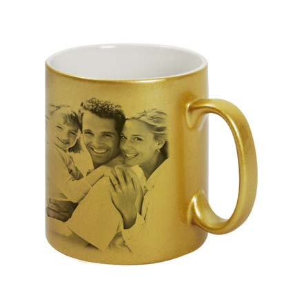 Golden Best Couple Personalised Mug: Last Minute Gift Delivery