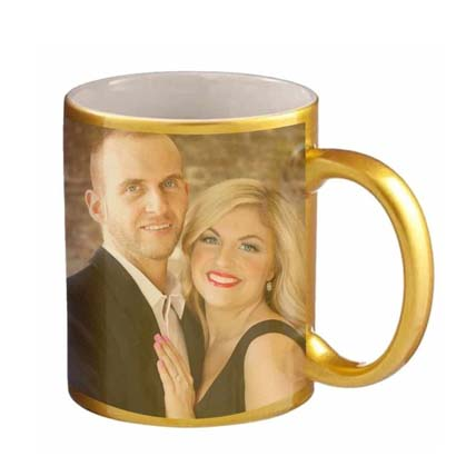 Golden Personalised Couple Mug: Last Minute Gift Delivery