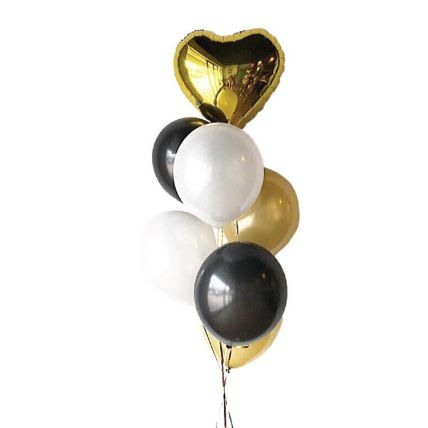 Personalised Heart Foil Balloon And 6 Latex Balloons: