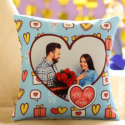 You Are The One Personalised Cushion: Personalised Gifts Malaysia