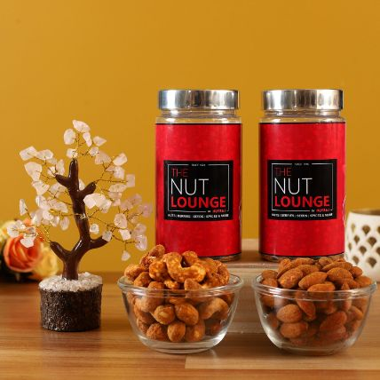 Cashew and Almond Barbecue Jars With Wish Tree