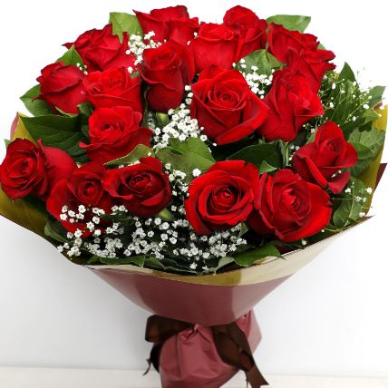 Charming 20 Red Roses Bouquet