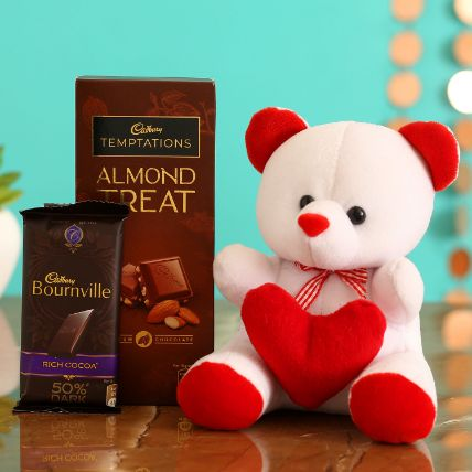 Cute Teddy With Temptations and Bournville
