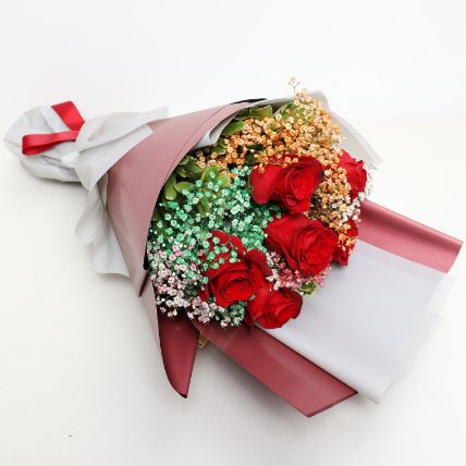Enchanting 6 Red Roses Bouquet