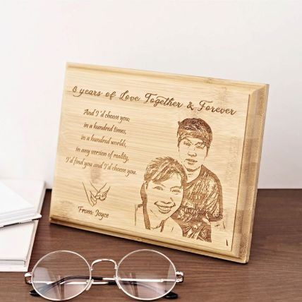 Personalised Bamboo Plaque Big