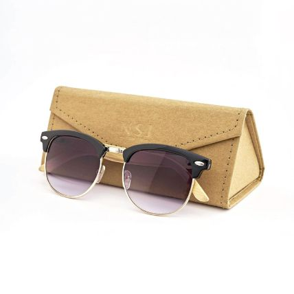 Personalised Clubmaster Bamboo Sunglasses
