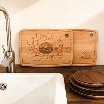Personalised Hanging Chopping Right Bottom Serving Board