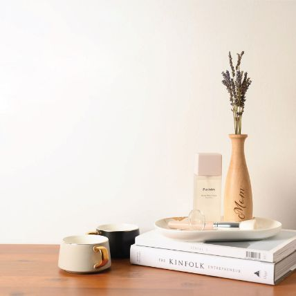 Personalised Wooden Vase With Tube Box