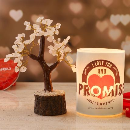 Promise Day Hollow Candle Rose Quartz Wish Tree