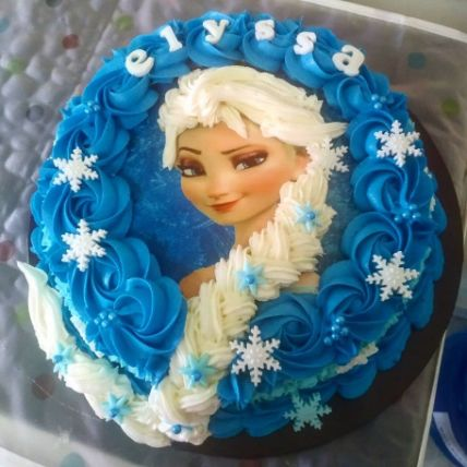 Tempting Frozen Character Theme Cake Chocolate
