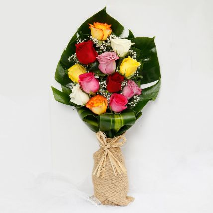 Delightful Mixed Roses Bouquet