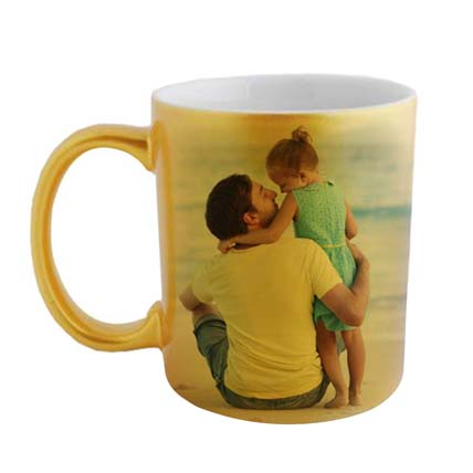 Golden Personalized Father Daughter Mug