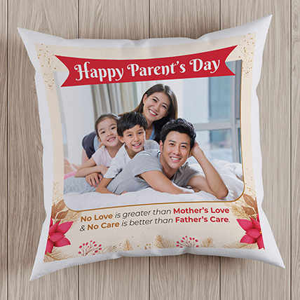 Happy Parents Day Personalised Cushion