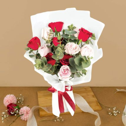 Lovely Mixed Roses Bouquet 6 Stalks
