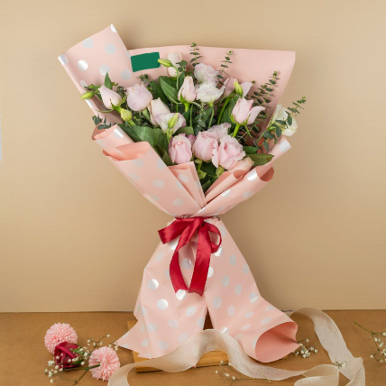 Lovely Roses Beautifully Tied Bouquet