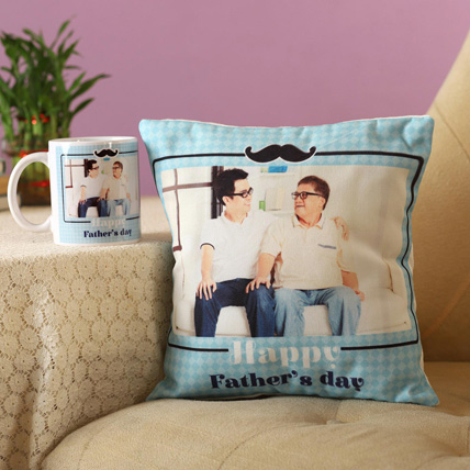 Personalised Cushion Mug For Special Dad