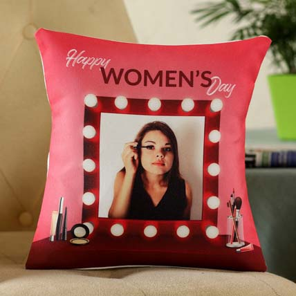 Personalised Women Day Greetings Cushion