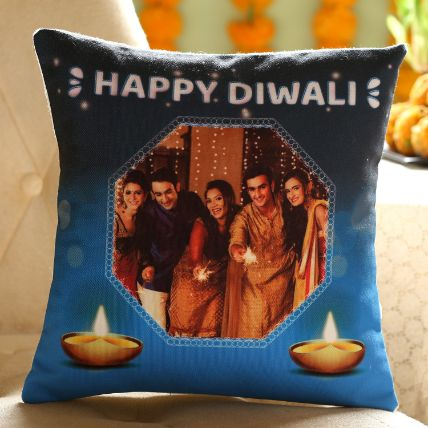 Personalised Diwali Wishes Cushion For Family