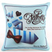 Personalised Blue Cushion For Dad