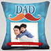 Personalised Mustache Cushion For Dad