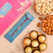 Golden Pearl Rakhi And Dry Fruits With Ferrero Rocher