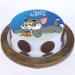 Classic Tom And Jerry Photo Cake Pineapple 1 Kg